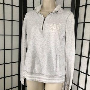 PINK Victoria's Secret Grey & White Sweatshirt
